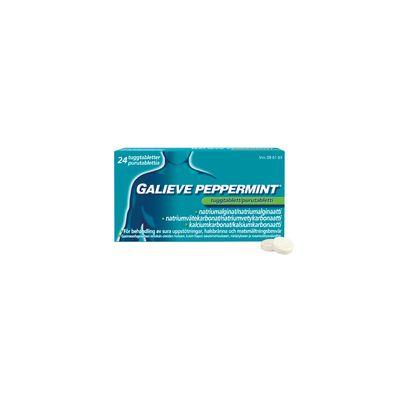 GALIEVE PEPPERMINT 250/133,5/80 mg purutabl 24 fol