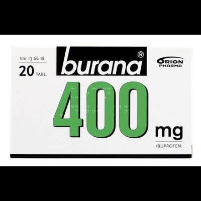 BURANA 400 mg tabl, kalvopääll 20 fol