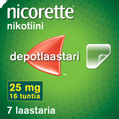NICORETTE 25 mg/16 h depotlaast 7 kpl